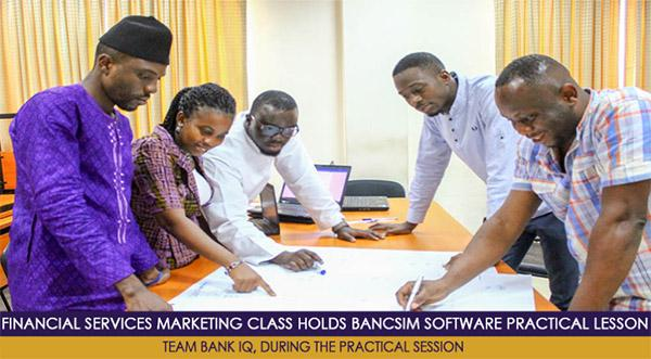 Financial Services Marketing Class holds simulation session