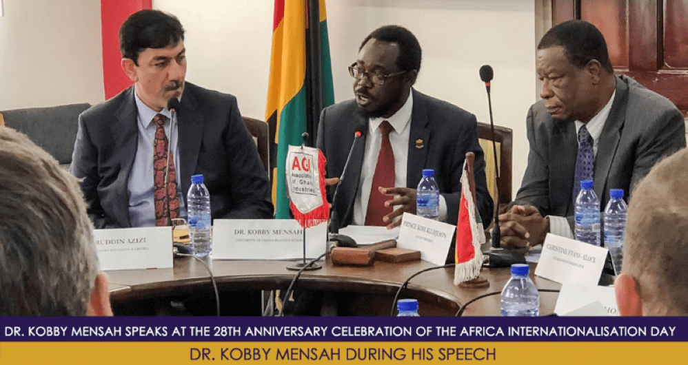 Dr. Kobby Mensah Speaks at the 28th Anniversary Celebration of the Africa Industrialisation Day